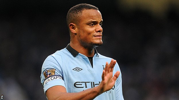 Kompany to get back into action against Southampton