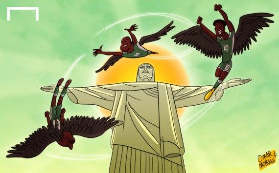Лучшая карикатура дня. Сборная Нигерии завоевала путевку на чемпионат мира