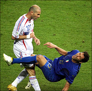 Materazzi included Zidane in his all-time team