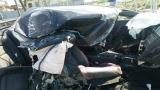 Разбитая машина Андрея Ещенко