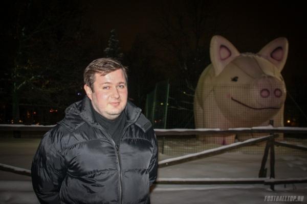 Олег Пирожков и свинья