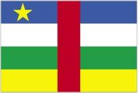 Флаг Центральноафриканская Республика